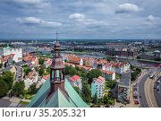 Aerial view from bell tower of Cathedral Basilica of St James the... Стоковое фото, фотограф Konrad Zelazowski / age Fotostock / Фотобанк Лори