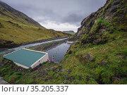 Abandoned Seljvavellir pool in southeast part of Iceland. Стоковое фото, фотограф Konrad Zelazowski / age Fotostock / Фотобанк Лори
