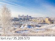 Winter day in the city. Стоковое фото, фотограф Дмитрий Тищенко / Фотобанк Лори