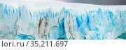 Vertical edge of glacier Perito Moreno. Стоковое фото, фотограф Яков Филимонов / Фотобанк Лори