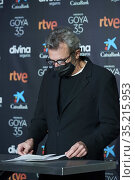 Mariano Barroso attends 35th Goya Awards Nominee Reading at Academia... Редакционное фото, фотограф Manuel Cedron / age Fotostock / Фотобанк Лори