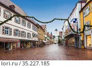 Bad Mergentheim during the Christmas holidays. Bavaria, Germany (2012 год). Редакционное фото, фотограф Наталья Волкова / Фотобанк Лори