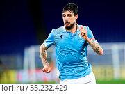 Francesco Acerbi (Lazio) during the match ,Rome, ITALY-24-01-2021. Редакционное фото, фотограф Federico Proietti / Sync / AGF/Federico Proietti / / age Fotostock / Фотобанк Лори