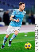 Manuel Lazzari (Lazio) during the match ,Rome, ITALY-24-01-2021. Редакционное фото, фотограф Federico Proietti / Sync / AGF/Federico Proietti / / age Fotostock / Фотобанк Лори