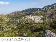 Zhueros village, natural landscape at Subbetica mountain, Cordoba... Стоковое фото, фотограф Jerónimo Alba / age Fotostock / Фотобанк Лори