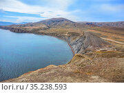 Sea Lagoon with mountains near the coast. Стоковое фото, фотограф Юрий Бизгаймер / Фотобанк Лори
