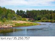 Река Пра в Окском террасном природном биосферном заповеднике. Редакционное фото, фотограф Михаил Куликов / Фотобанк Лори