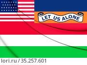 3D Moseley flag (Florida), USA. 3D Illustration. Стоковое фото, фотограф Zoonar.com/Inna Popkova / easy Fotostock / Фотобанк Лори