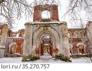 Ruins of the former estate of Baron Wrangel, Torosovo, Leningrad Region. Стоковое фото, фотограф Юлия Бабкина / Фотобанк Лори