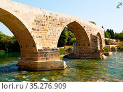 In europe turkey aspendos the old bridge near the river and nature. Стоковое фото, фотограф Zoonar.com/LKPRO / easy Fotostock / Фотобанк Лори