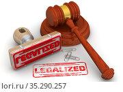 Legalized verdict. The stamp and an imprint. Стоковая иллюстрация, иллюстратор WalDeMarus / Фотобанк Лори