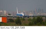 Boeing 747 Air Bridge Cargo. Редакционное видео, видеограф Игорь Жоров / Фотобанк Лори