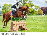 Floors Castle Horse Trials 2019. Стоковое фото, фотограф Zoonar.com/dvlcom / age Fotostock / Фотобанк Лори