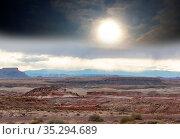 Unusual badlands landscapes in Utah ,USA. Стоковое фото, фотограф Zoonar.com/Galyna Andrushko / easy Fotostock / Фотобанк Лори
