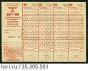 Europa, Deutschland, Hamburg, Zeit des 2. Weltkrieges, Lebensmittelkarte... Редакционное фото, фотограф Historisches Auge Ralf Feltz / age Fotostock / Фотобанк Лори