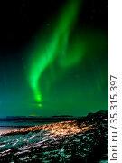 Northern Lights Southern Iceland. Стоковое фото, фотограф Zoonar.com/Phil Bird / easy Fotostock / Фотобанк Лори