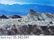 Zabriskie Point in the Death Valley National Park, California, USA. Стоковое фото, фотограф Zoonar.com/Marc Schmerbeck / easy Fotostock / Фотобанк Лори