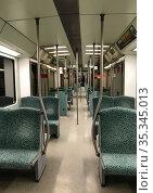 Berlin, Germany, empty S-Bahn carriage. Редакционное фото, агентство Caro Photoagency / Фотобанк Лори