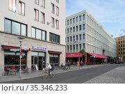 Berlin, Germany - Urban development at Fritz-Lang-Platz in Berlin-Hellersdorf (2018 год). Редакционное фото, агентство Caro Photoagency / Фотобанк Лори