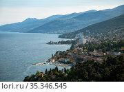 Croatia, Opatija - seaside resort on the Kvarner bay with mondaen Austrian-Hungarian past (2016 год). Редакционное фото, агентство Caro Photoagency / Фотобанк Лори