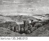 Mastaba of Ti. Archeological remains. Saqqara necropolis. It was ... Редакционное фото, фотограф Jerónimo Alba / age Fotostock / Фотобанк Лори