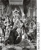 The coronation of Ulrich von Hutten. Ulrich von Hutten being crowned... Редакционное фото, фотограф Jerónimo Alba / age Fotostock / Фотобанк Лори
