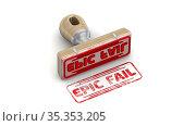 Epic fail. The stamp and an imprint. Стоковая анимация, видеограф WalDeMarus / Фотобанк Лори