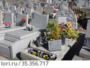 Passy cemetery. Haute-Savoie. Auvergne Rh™ne-Alpes. France. Europe. Стоковое фото, фотограф Catherine Leblanc / easy Fotostock / Фотобанк Лори