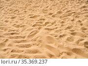 Gelbe Sand Strand Textur als Landschaft Hintergrund Muster. Стоковое фото, фотограф Zoonar.com/Robert Kneschke / age Fotostock / Фотобанк Лори