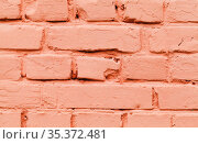 Old red brick wall, close-up background texture. Стоковое фото, фотограф EugeneSergeev / Фотобанк Лори