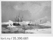 ANTARCTICA -- 04 Feb 1838 -- 'Voyage au pole sud et dans l'Oceanie... Редакционное фото, фотограф Jonathan William Mitchell / age Fotostock / Фотобанк Лори