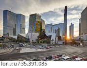 Las Vegas Boulevard at night, Nevada, United States. Стоковое фото, фотограф Massimo Pizzotti / age Fotostock / Фотобанк Лори