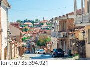 The alleys of the old town. old Signakhi Kakheti, Georgia. Стоковое фото, фотограф Константин Лабунский / Фотобанк Лори