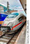 Brussels, Belgium - June 2018: ICE train between Netherlands and ... Стоковое фото, фотограф Zoonar.com/Bjorn Beheydt / age Fotostock / Фотобанк Лори