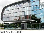 Erweiterungsbau der Deutsche Nationalbibliothek, früher Deutsche ... Стоковое фото, фотограф Zoonar.com/Georg_A / age Fotostock / Фотобанк Лори