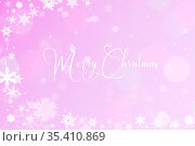 Weihnachtskarte mit dem Text Merry Christmas und mit Schnee. Стоковое фото, фотограф Zoonar.com/Robert Kneschke / age Fotostock / Фотобанк Лори