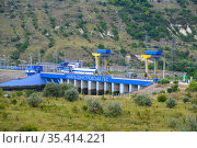 Dniester HES-2 hydroelectric power station, Ukraine (2020 год). Редакционное фото, фотограф Сергей Старуш / Фотобанк Лори