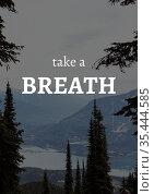 Take a break text over winter landscape with mountains. Стоковое фото, агентство Wavebreak Media / Фотобанк Лори