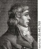 André Dumont, 1764 -1838. French parliamentarian, regicide, deputy... Стоковое фото, фотограф Classic Vision / age Fotostock / Фотобанк Лори