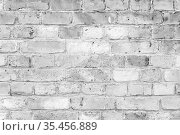 Grungy old white brick wall, background texture. Стоковое фото, фотограф EugeneSergeev / Фотобанк Лори