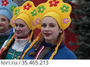 Праздник Масленицы в Балашихе. Редакционное фото, фотограф Дмитрий Неумоин / Фотобанк Лори