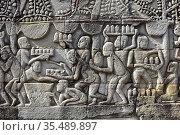Bayon, buddhist temple of the Khmer Empire (12th century). Angkor... Стоковое фото, фотограф J M Barres / age Fotostock / Фотобанк Лори