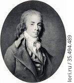 Etienne Nicolas Mehul (1763-1817) French composer. Music Musician. Редакционное фото, агентство World History Archive / Фотобанк Лори