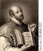 Ignatius Loyola, born Inigo Lopez de Recalde (1491-1556) Spanish ... Редакционное фото, агентство World History Archive / Фотобанк Лори