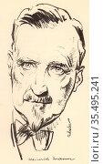 Heinrich Mann (1871-1950) German novelist. Elder brother of the novelist Thomas Mann. Редакционное фото, агентство World History Archive / Фотобанк Лори