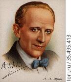 Alan Alexander Milne (1882-1956), English author. Редакционное фото, агентство World History Archive / Фотобанк Лори