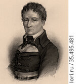 Lazare Nicolas Marguerite Carnot (1753-1823), French military engineer. Редакционное фото, агентство World History Archive / Фотобанк Лори