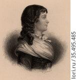 Marie Jeanne Philipon Roland, French Revolutionary. Редакционное фото, агентство World History Archive / Фотобанк Лори