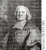 Jacques-Bénigne Lignel Bossuet (Dijon 1627 - París 1704) French bishop... Редакционное фото, фотограф Jerónimo Alba / age Fotostock / Фотобанк Лори