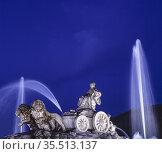 La Cibeles Fountain. Madrid. Spain. Стоковое фото, фотограф Luis Castañeda / age Fotostock / Фотобанк Лори